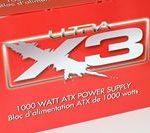 Fuente de alimentación modular de eficiencia energética Ultra X3 de 1000 vatios