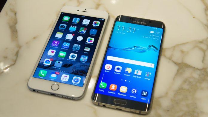 Samsung Galaxy S6 Edge + frente al iPhone 6 Plus