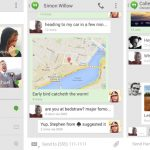 Google actualiza la aplicación Hangouts con conversaciones de mensajería instantánea y SMS combinadas