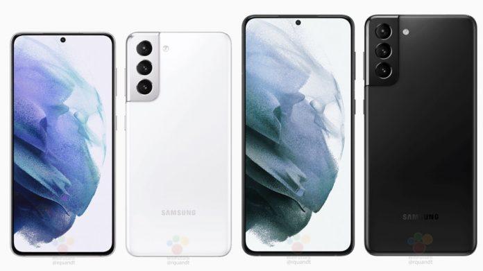 Renders oficiales de Samsung Galaxy S21 y S21 Plus con fugas