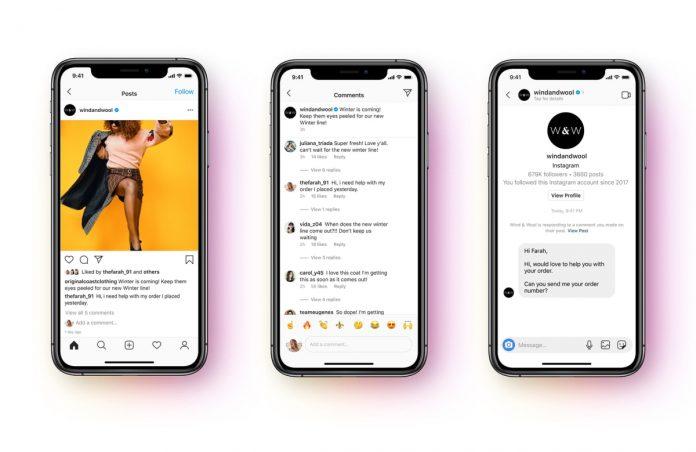 La API de Facebook Messenger permite una respuesta automatizada a los DM de la tienda de Instagram