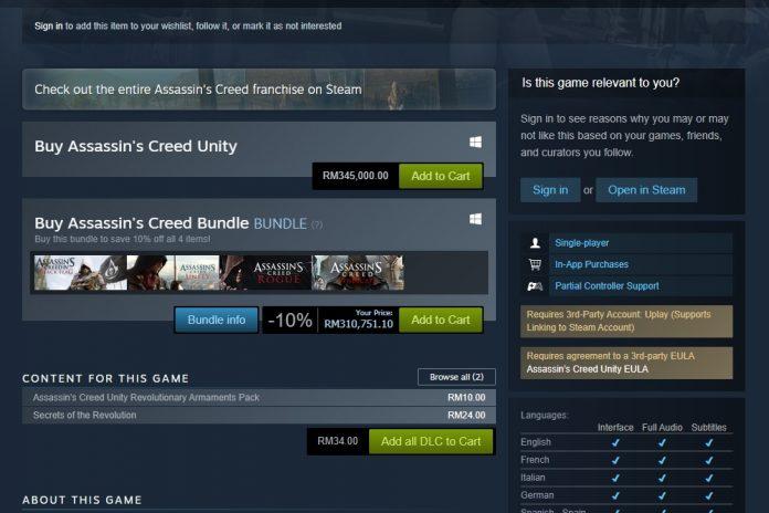 AC Unity Steam price bug 3 - Copy