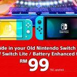 Impulse Gaming ofrece cambio de Nintendo Switch de primera generación a Switch Lite o versión mejorada con batería desde RM99