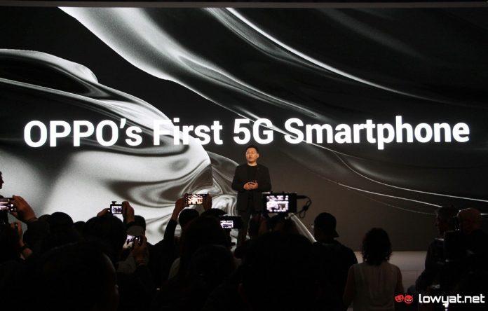 El primer teléfono OPPO 5G con tecnología Qualcomm Snapdragon 855