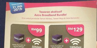 Astro ofrece un paquete de Internet y TV por satélite en Jasin;  Comienza en RM 99 con 50 Mbps