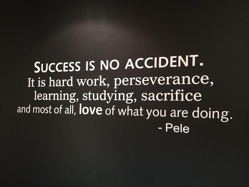 El éxito no es un accidente.