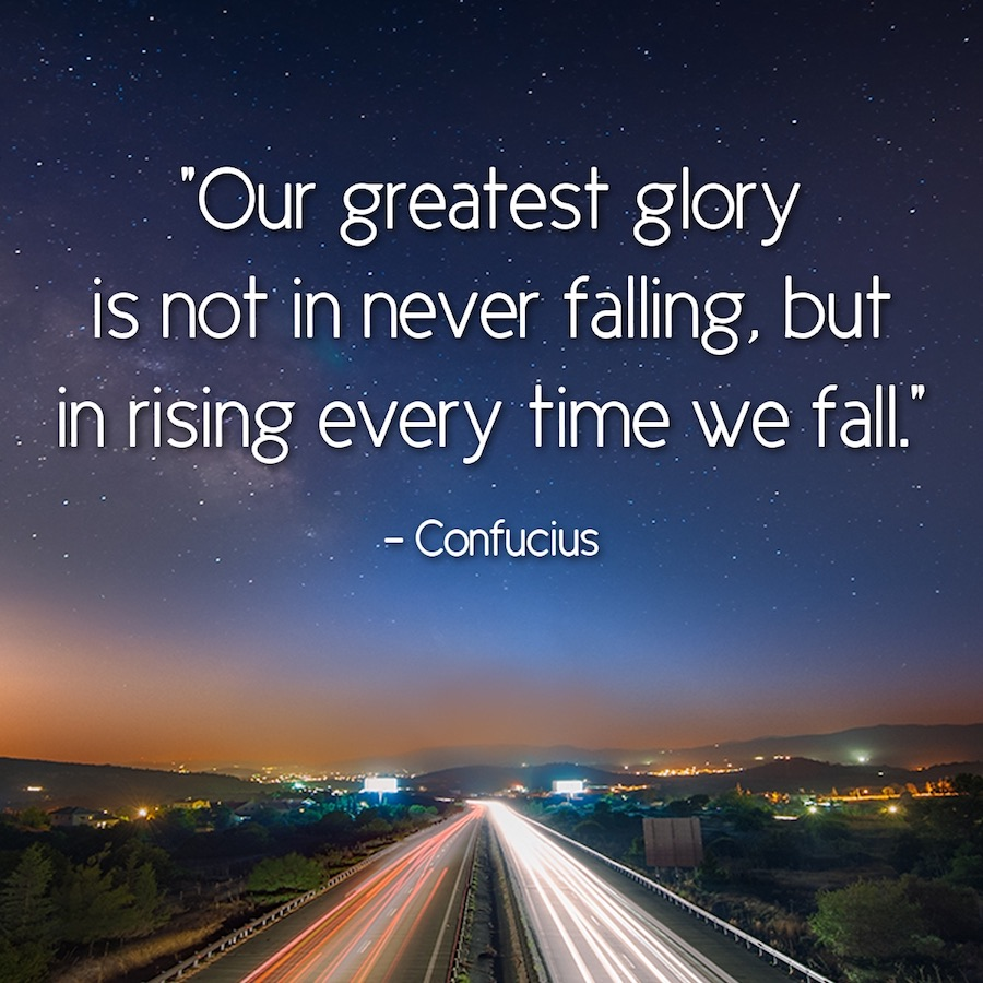 Nuestra mayor gloria no está en caer