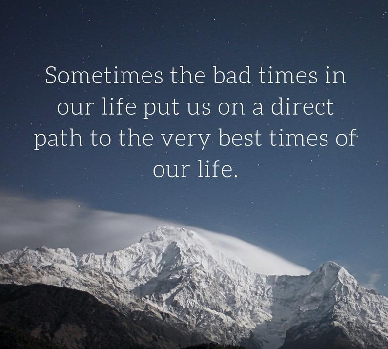 Malos tiempos en nuestra vida