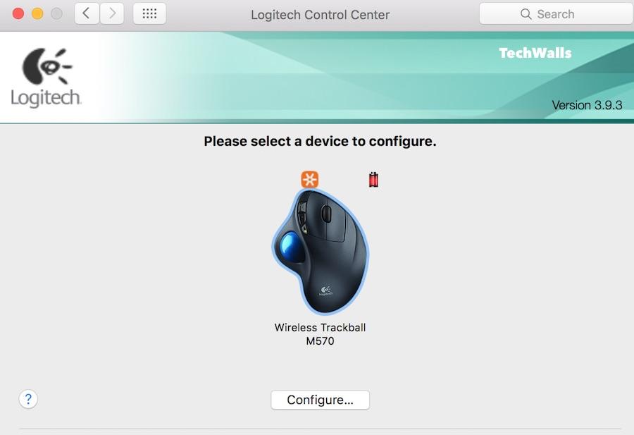 centro de control logitech