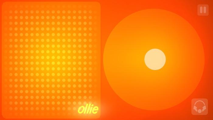 Pantalla principal de la aplicación Ollie