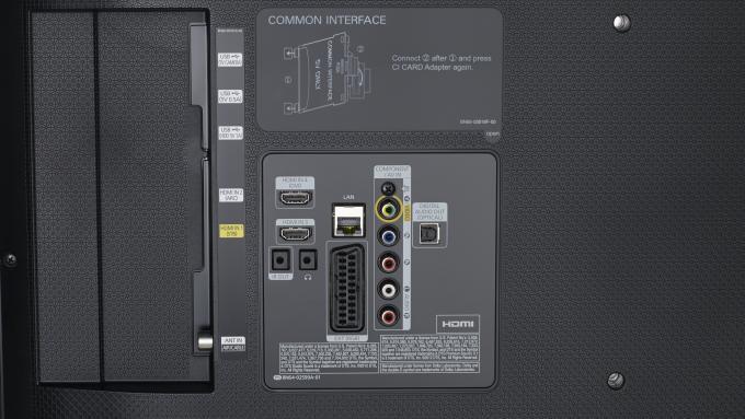 Samsung UE40H6400 traseros y puertos