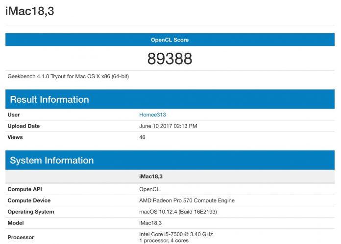 AMD Radeon Pro 570 vs 575 vs 580 en iMac - Comparación de especificaciones y puntos de referencia