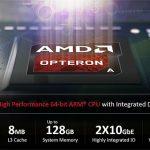 AMD presenta el SoC Opteron A1100 basado en ARM de 64 bits con 10GbE integrado para el centro de datos