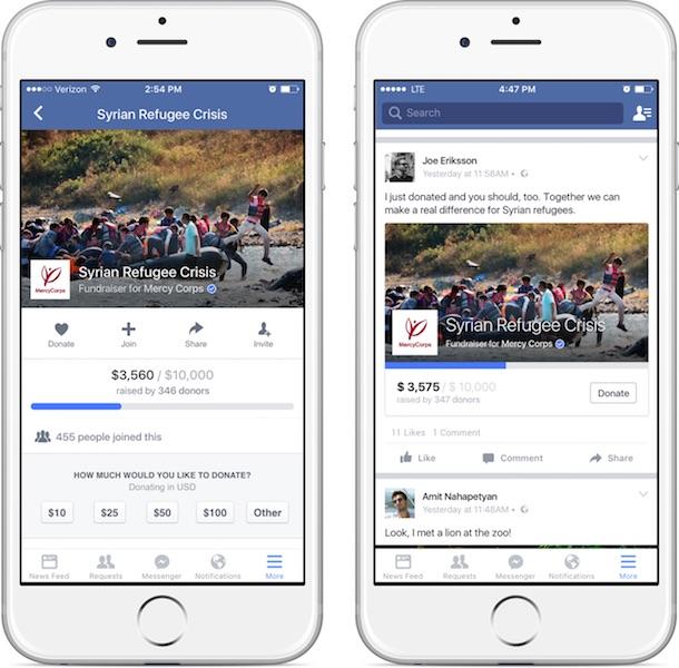 recaudación de fondos-facebook