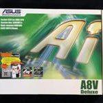 """Asus A8V Deluxe """"Edición inalámbrica"""" (Toma 939)"""