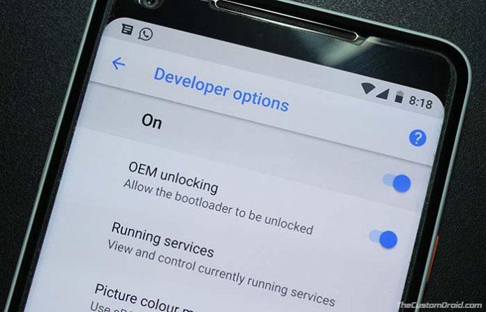 Enable OEM Unlocking on Android