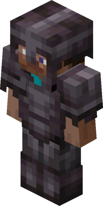 Steve de Minecraft con armadura Netherite