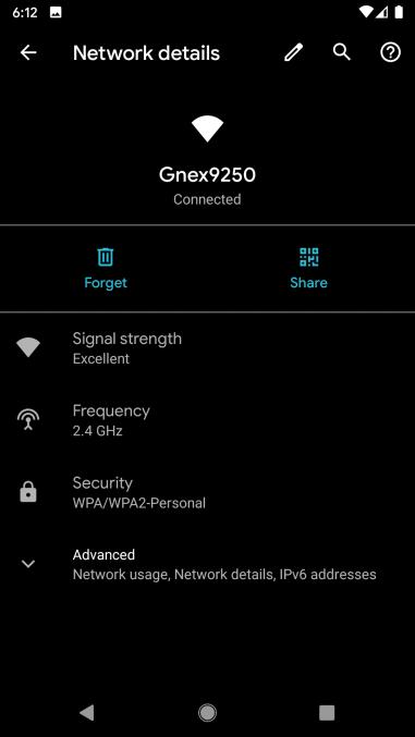 Código QR de Wi-Fi de Android 10