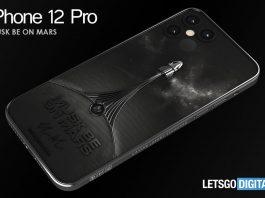 Concepto de teléfono iPhone 12 Pro de Caviar