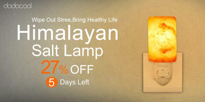 [Deal] Lámpara de sal del Himalaya dodocool