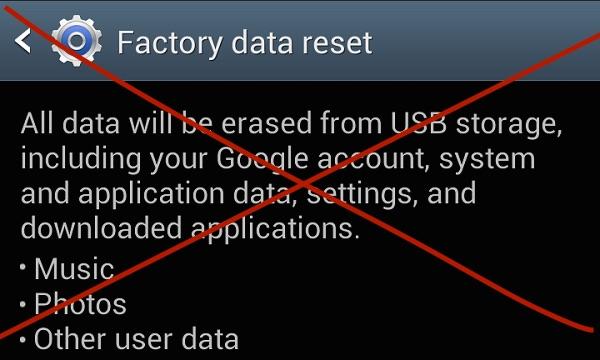 Restablecimiento de fábrica-teléfono-android