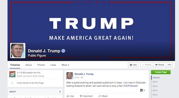 presidente de facebook