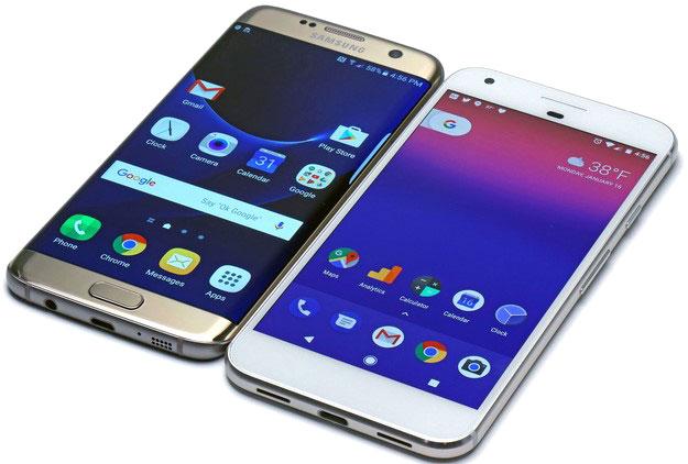 Pixel XL Vs Samsung Galaxy S7 Edge frontal2