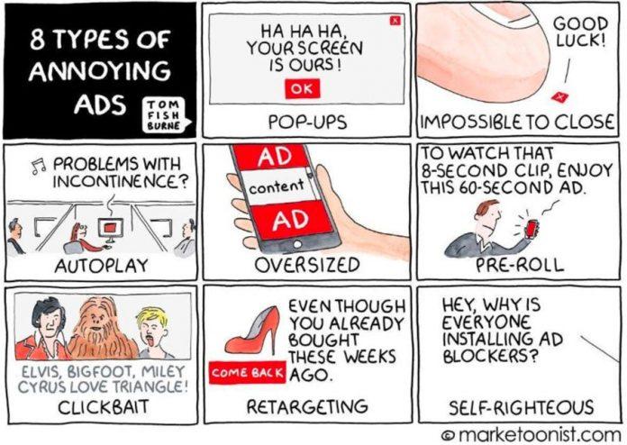 Las técnicas de publicidad online más odiadas