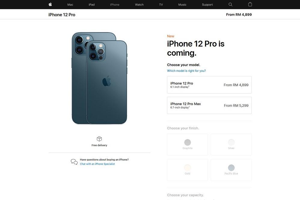Precios del iPhone 12 Pro
