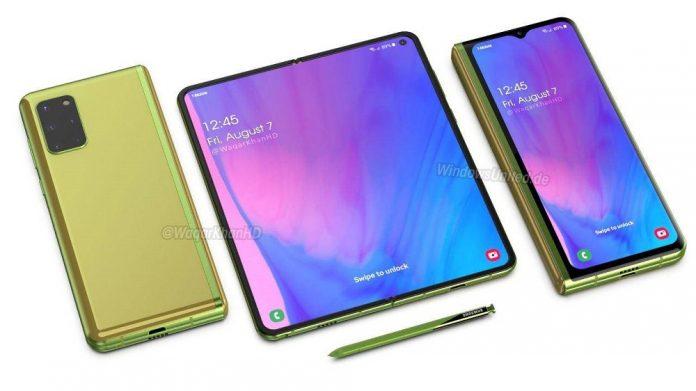 Samsung Galaxy Fold 2 render