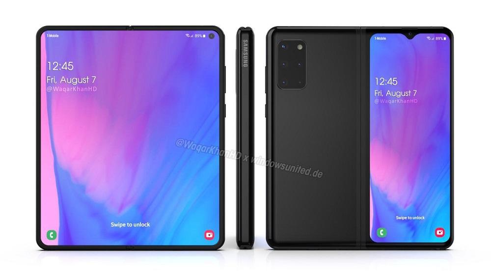 Samsung Galaxy Fold 2 render negro