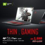 MSI GF65 Thin obtiene un 15% de descuento;  Con un precio de RM3999