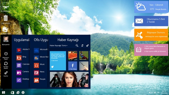 concepto de diseño de windows 9