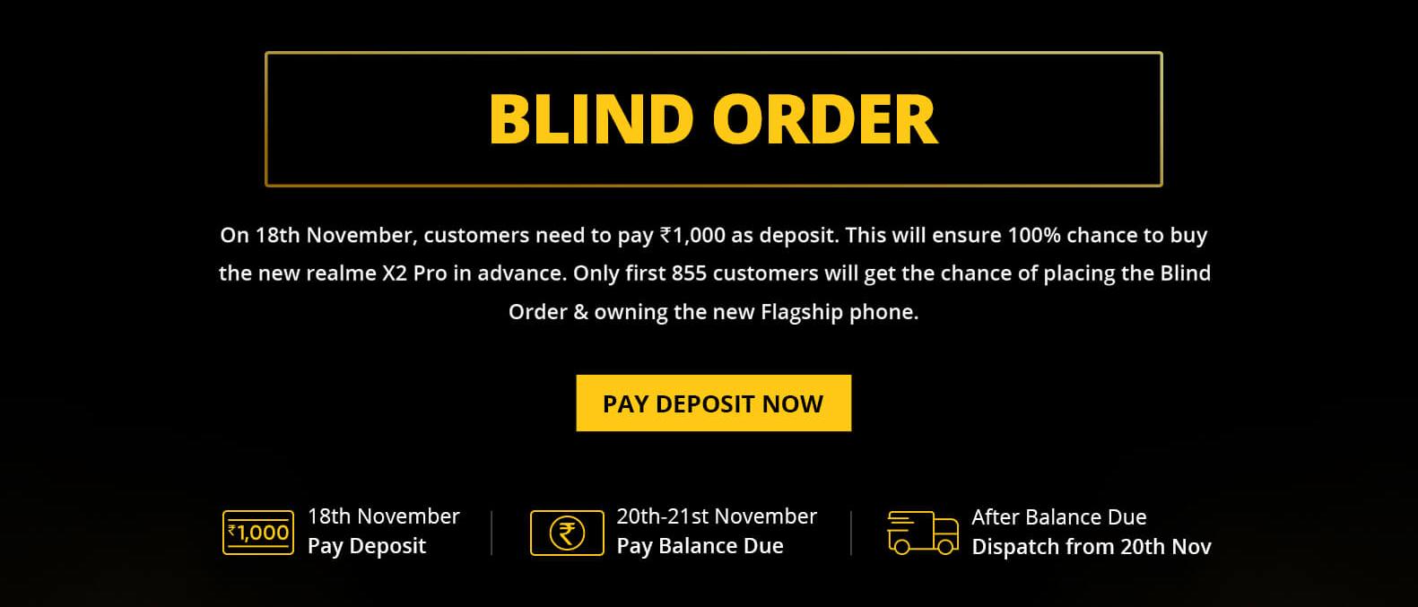 Realme X2 Pro Venta de pedido a ciegas