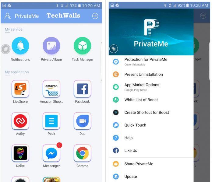 Revisión de Trigtech PrivateMe - Ocultar aplicaciones y fotos sin rootear