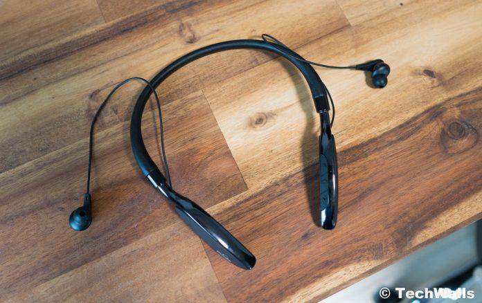 Revisión de auriculares Bluetooth con banda para el cuello con cancelación activa de ruido iDeaUSA V205