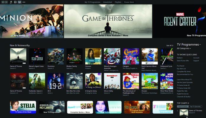 Revisión de películas y TV de iTunes