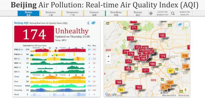 calidad del aire de beijing