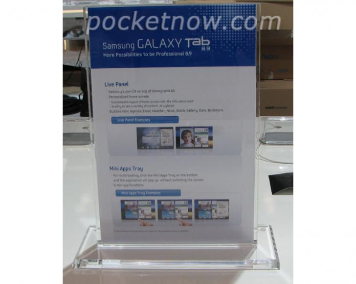Samsung Galaxy Tab 8.9 presentado oficialmente