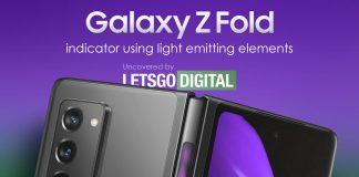 Samsung Galaxy Z Fold 3 con indicador de luz en la bisagra oculta