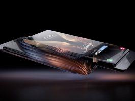 Teléfono inteligente Samsung con pantalla envolvente y cámara deslizante