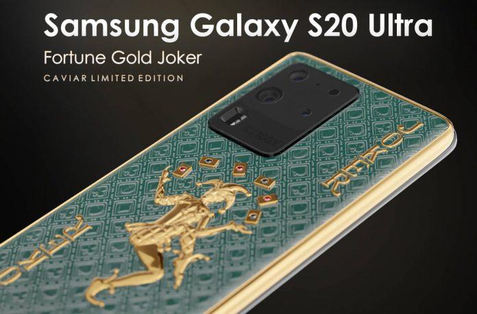Teléfonos Samsung Galaxy S20 Ultra Limited Edition de Caviar