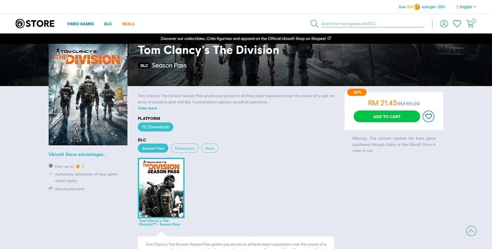 Descuento del pase de temporada de Tom Clancy's The Division