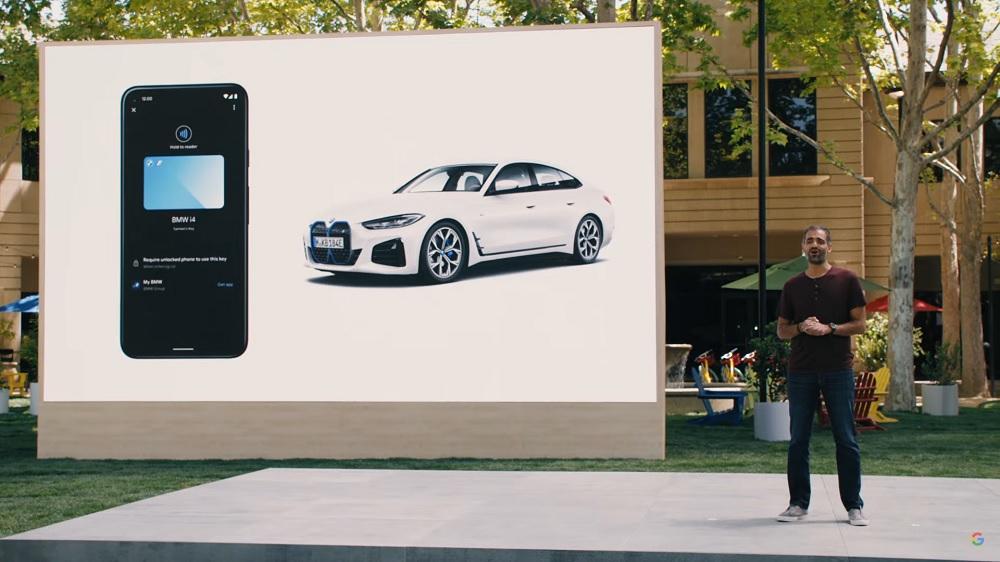Llave de coche digital Android 12