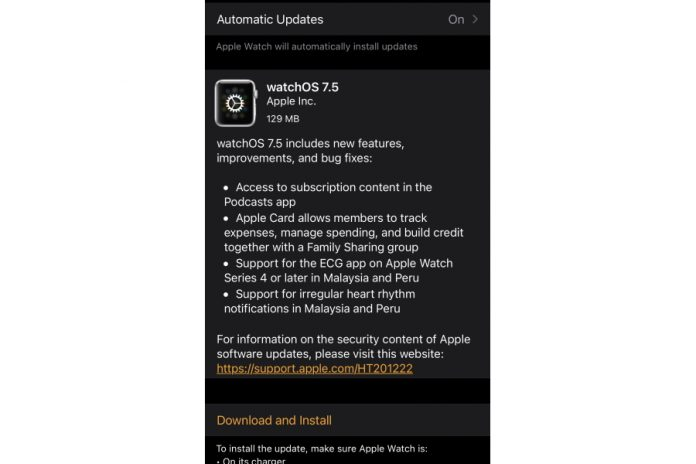 Apple Watch ECG Feature Coming To Malaysia via watchOS 7.5