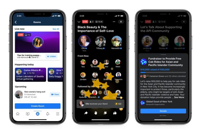 Facebook Announces Clubhouse Clone Live Audio Rooms, Set To Launch Mid-Year