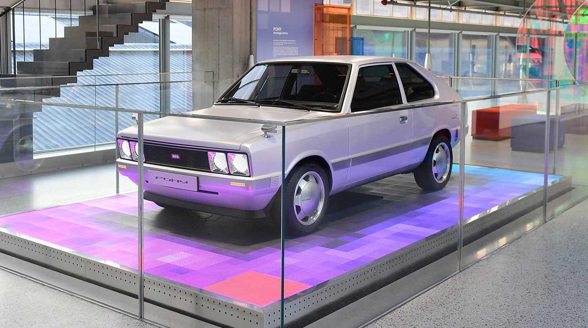 Pony de la serie de la herencia de Hyundai