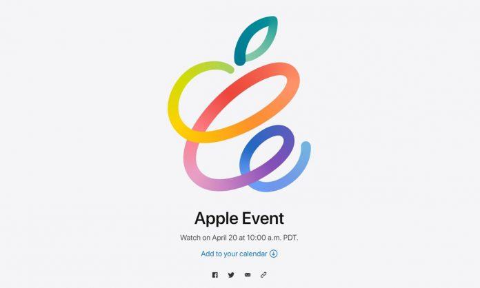 Apple Spring Loaded Event 20 April