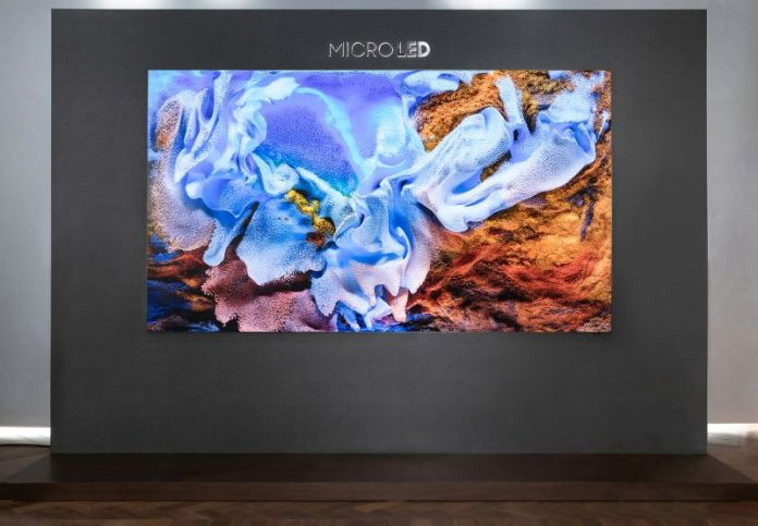 Samsung Unveils 110-inch 4K TV With MicroLED Technology