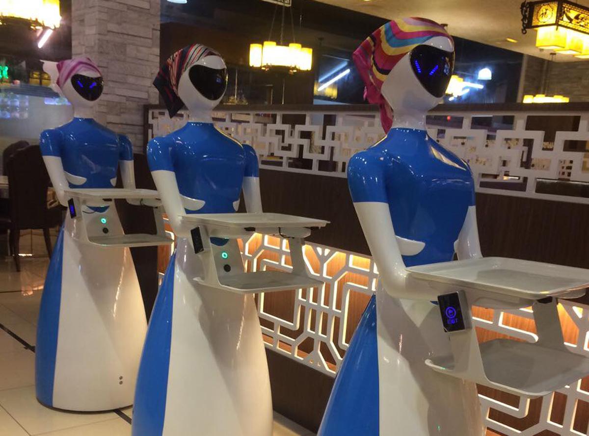 Robot camarero original Penang Kayu Nasi Kandar PuduBot